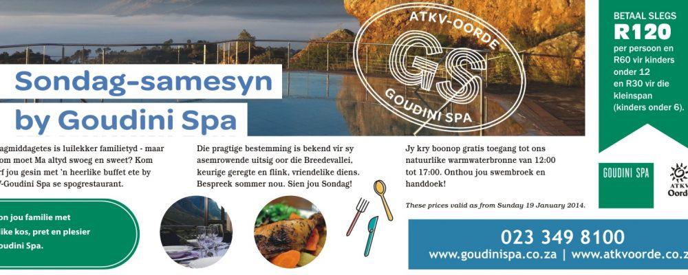 Sondag Samesyn by Goudini Spa