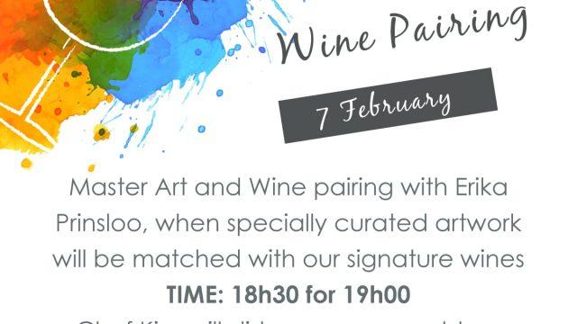 Art & Wine pairing @ Bosjes