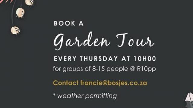 Garden Tours at Bosjes