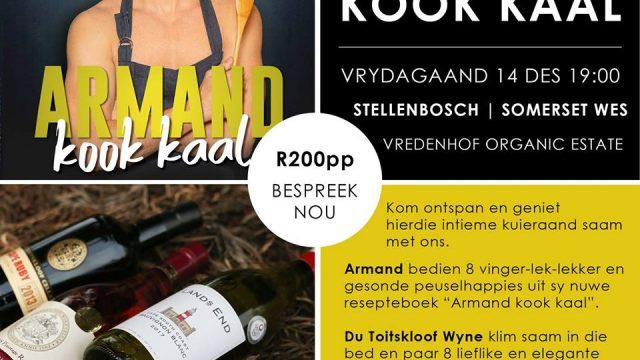 Armand kook kaal by Du Toitskloof