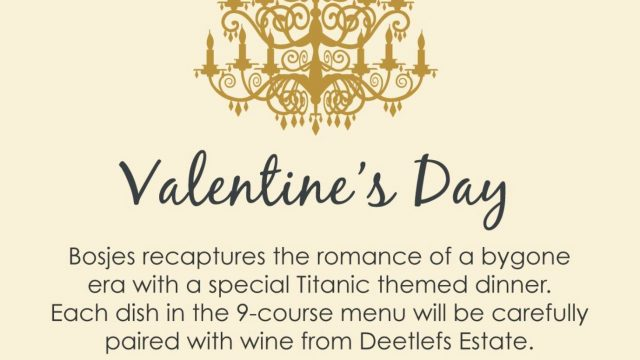 Valentine's Day with Bosjes and Deetlefs Wines
