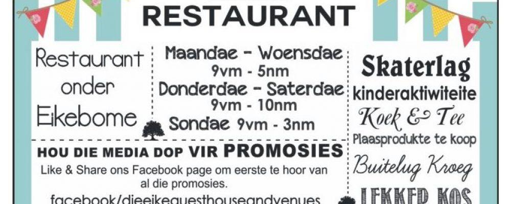 Besoek Die Eike Restaurant