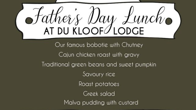 Du Kloof Father's day lunch