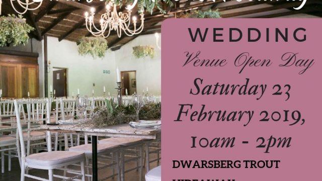 Wedding venue open day at Dwarsberg