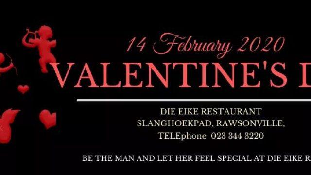 Valentines day at Die Eike Restaurant