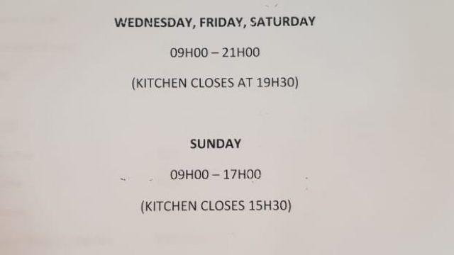 Eike Restaurant business hours
