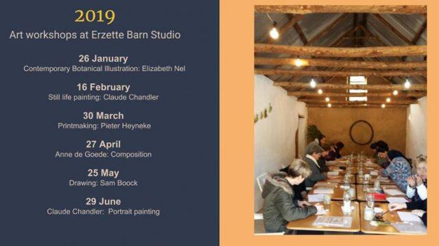 Art Workshop dates for Erzette