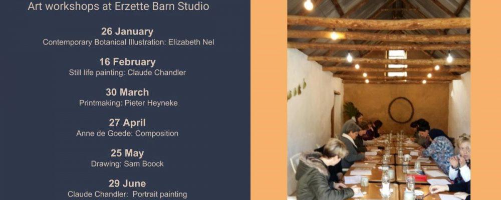 Erzette art workshop dates