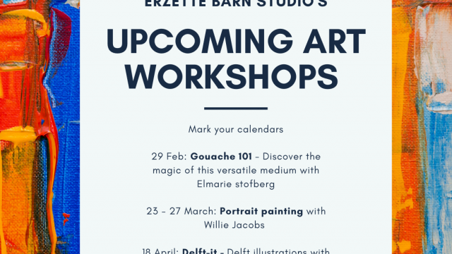 Erzette upcoming Art Workshops