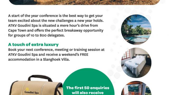 ATKV Goudini Spa: The perfect conference venue