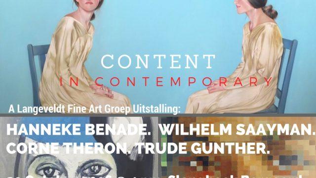 Content in Contemporary: 29 Oct 2016 @ Slanghoek Bergoord