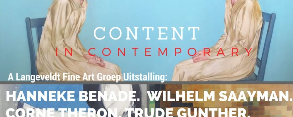 Content in Contemporary: 29 Oct 2016 @ Slanghoek Bergoord