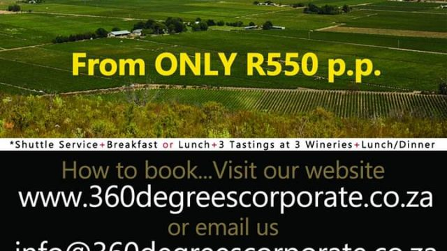 360DegreesCorporate Shuttle tours