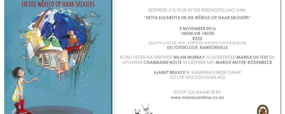 Murray & Me Boek bekendstelling: Du Toitskloof Kelder