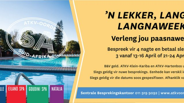 ATKV Goudini Spa: 'n Lekker Langnaweek