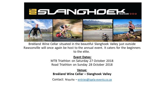 Slanghoek Triathlon