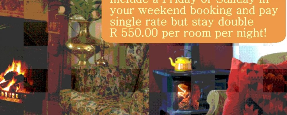 Aan de Doorns Guest House: Specials