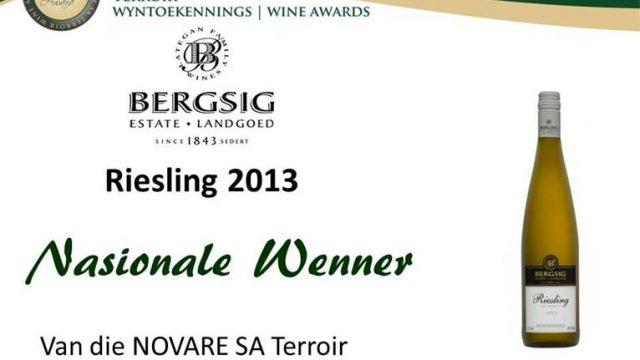 Bergsig Riesling 2013: Nasionale Wenner