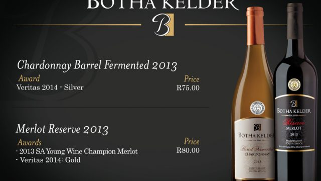 Botha Kelder: New Wines