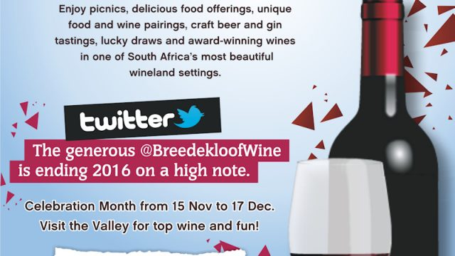 Celebrate with South Africa's most generous wine route: the Breedekloof Wine Valley!