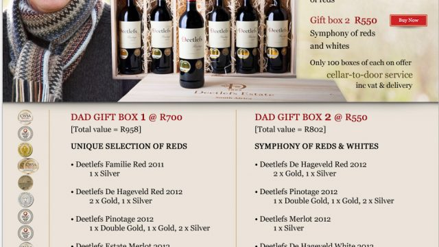 Deetlefs Estate: Boxed for Dad