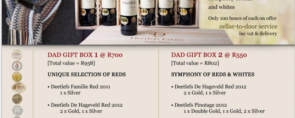 Deetlefs Estate: Boxed for Dad
