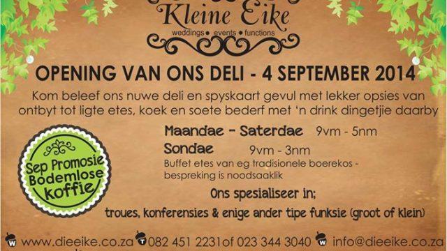 Klein Eike Deli open