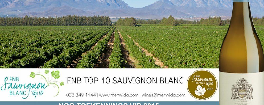 Merwida Sauvignon Blanc Tops!