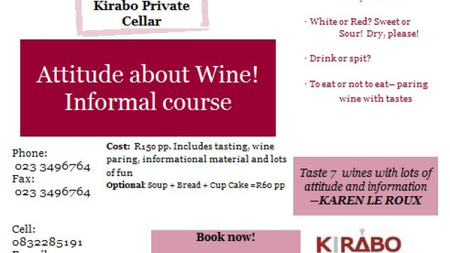 Attitude about wine informal course