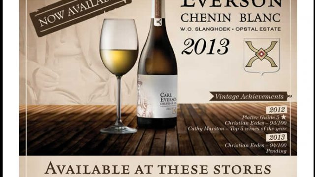 Opstal Estate: Carl Everson Chenin Blanc now available