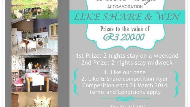 River Edge Accommodation: Like Share & Win