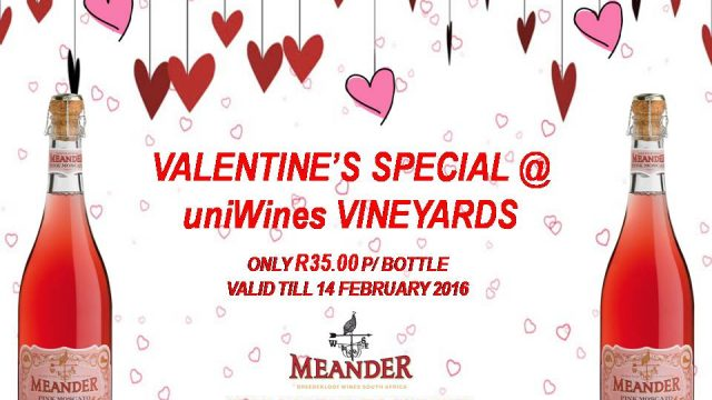 Valentine's Special @ Uniwines Vineyards