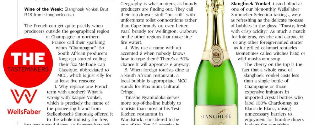 Wine of the week: Slanghoek Vonkel Brut