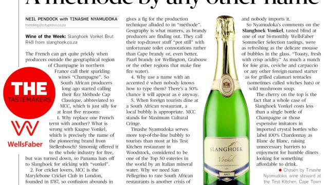 Wine of the week: Slanghoek Vonkel Brut